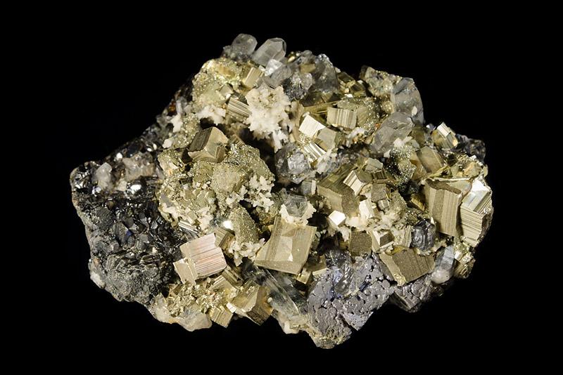 Pyrit, Sfalerit, Křemen