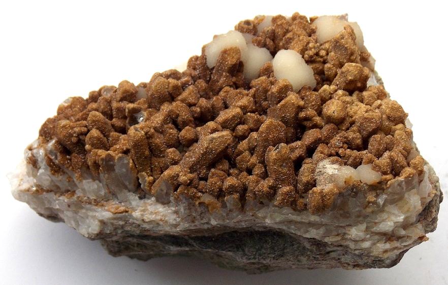 Calcite (var. Manganoan Calcite), Dolomite